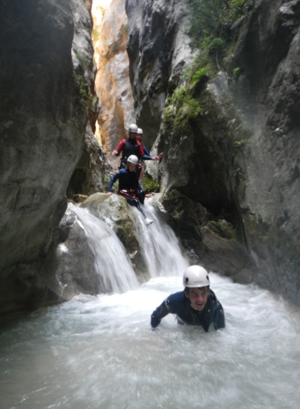 canyoning in de Pyreneeen